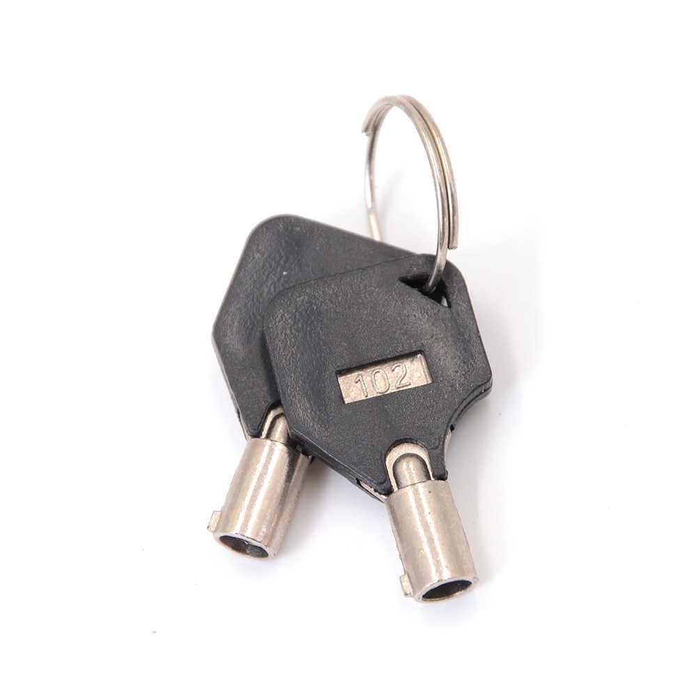 Laci Tubular Cam Kunci Keyed Different untuk Pintu Kotak Surat Kabinet Kotak Perkakas dengan 2 Kunci DIY Furniture Peralatan