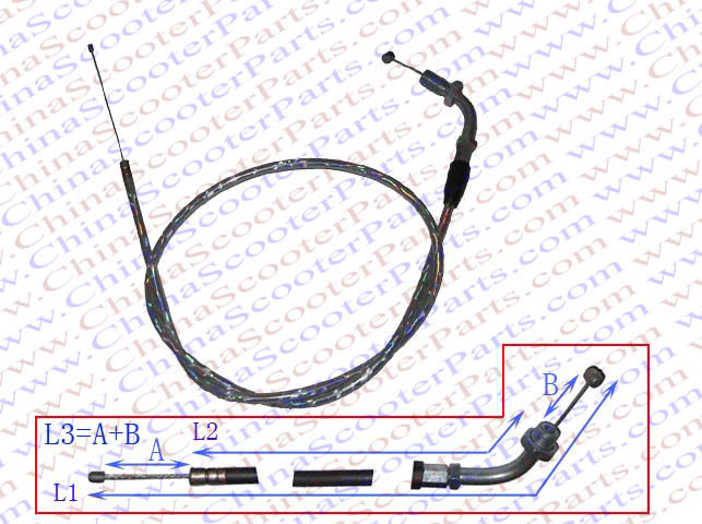 Lower Price with 90cm 35.4 Inch Silver Curve Throttle Cable Xr Crf 50 80 90cc 110cc 125cc 140cc Dirt Pit Bike Parts Structural Disabilities Atv,rv,boat & Other Vehicle