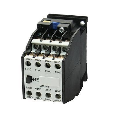JZC1-44 Ui 660V Ith10A 4 Poles Electromagnetic Contactor Relay 660v ui 10a ith 8 terminals rotary cam universal changeover combination switch