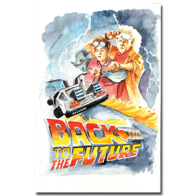 Back to the future Car 1 2 3 Classic Movie Art Silk Poster 13x20 24x36 Pictures For Living Room Wall Decoration 016