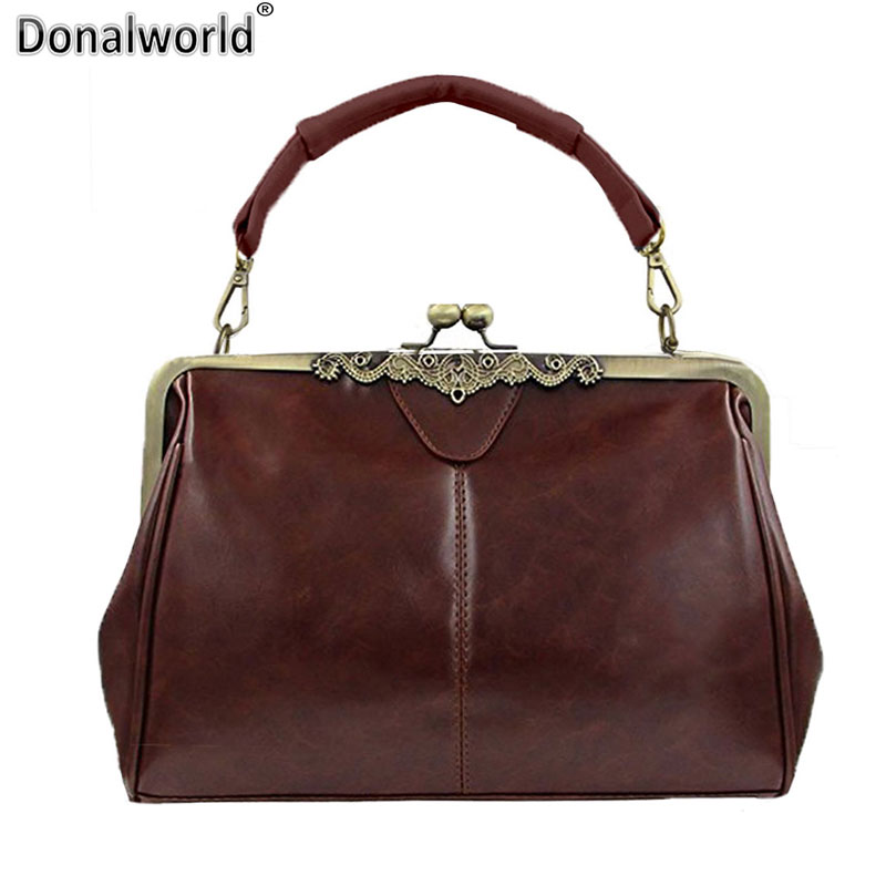 Donalworld New Fashion Retro Women Messenger bags Small Shoulder bag PU leather Female Tote bag Small Clutch Handbags micocah brand new vintage bags retro pu leather tote bag women messenger bags small clutch ladies handbags m07028