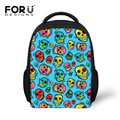 FORUDESIGNS 3D Cartoon Night Owl School Bag for Boys Girl Gifts Fashion Mini Pupil Cute Cat Schoolbag Children Kids Bag Pack