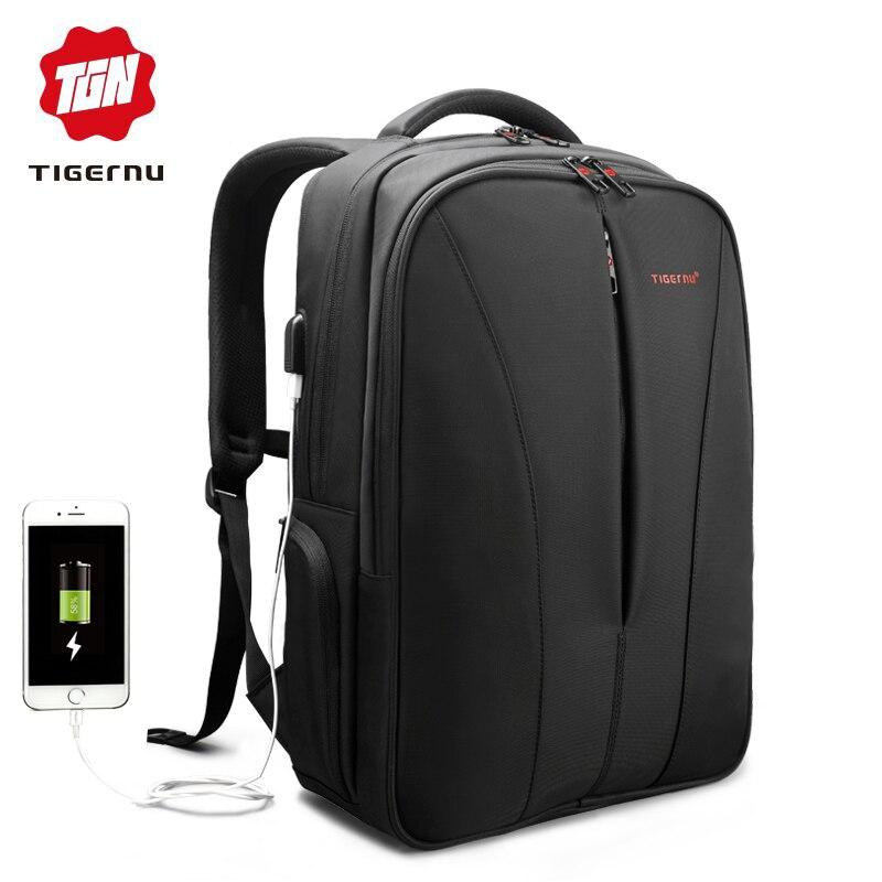 Tigernu Новый водонепроницаемый usb зарядка 15.6 дюймов ноутбук рюкзак мужчины рюкзаки для девочек-подростков путешествия рюкзак сумка для женщи...