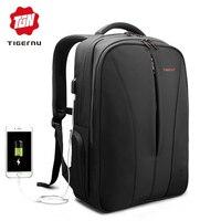 Tigernu New waterproof usb charge 15.6inch laptop backpack men backpacks for teenage girls summer backpack bag for women