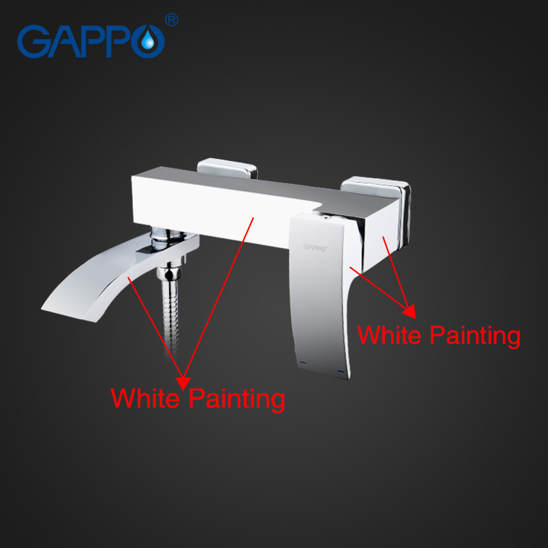 GAPPO high quality waterfall bath sink faucet torneira mixer restroom sink shower faucets and Basin Faucet G3207-8 G1007-8