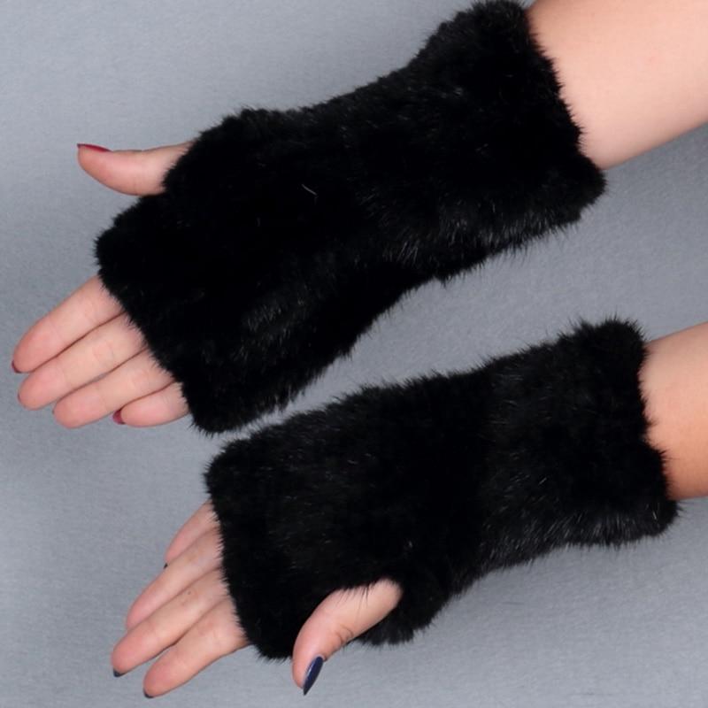 Prave rukavice od minore krzna 20cm, ženske rukavice, elegantne - Pribor za odjeću - Foto 6