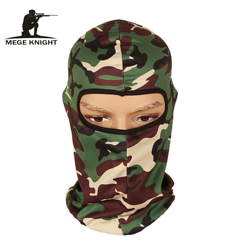 Military Camouflage Windproof Mask, Full Face Neck Guard Masks, Ninja Headgear Hat, Tactical Biking protection Masks tactical skull masks cs full face mask metal mesh eye shield halloween airsoft hunting field equipment