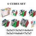 MOYU 6 Pezzi Set Cubo 2x2x2 + 3x3x3 + 4x4x4 + 5x5x5 + 6x6x6 + 7x7x7 cubetti di 6 Pezzi Set Di Puzzle Cube Giocattoli