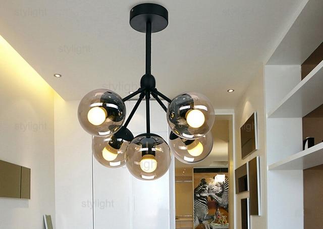 Modo Chandelier 5 Globes Modern Glass Chandeliers Jason Miller Pendant Lamp  Droplight Living Room Dining Room