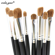 Premium 8pcs Eye Makeup Brushes Set Nature Hair Eyes Shadow Contour Blending Makeup Tools Kit