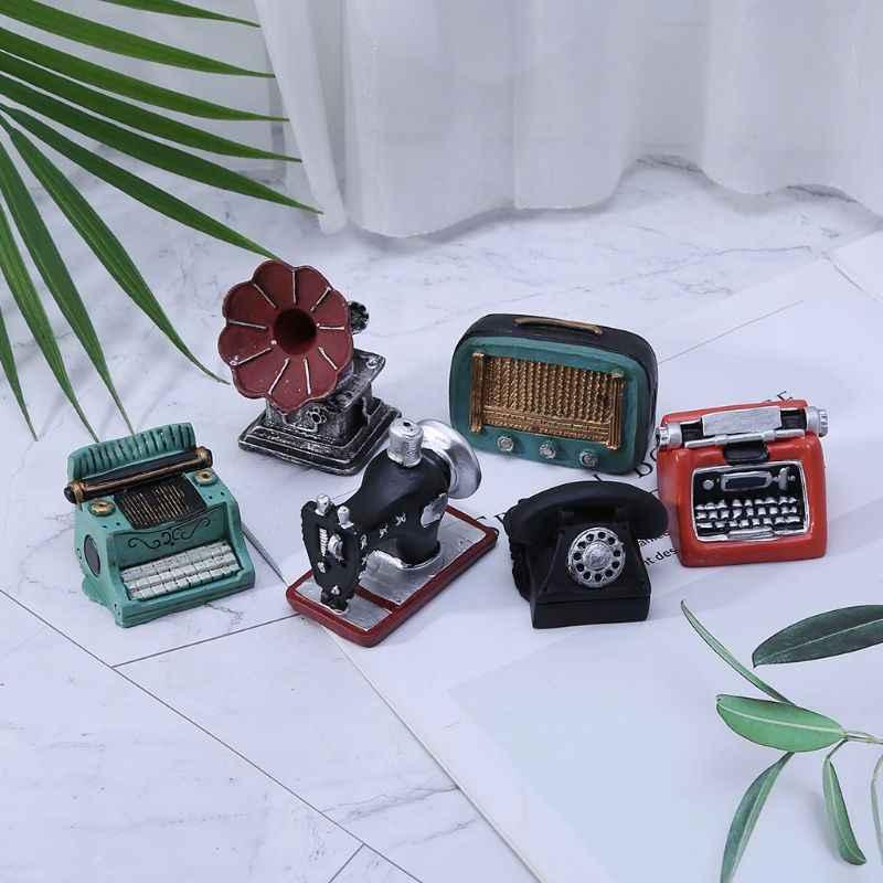 Accesorios de fotografía, fotografía para bebés, estudio fotográfico Vintage Retro, máquina fonógrafo, Radio, teléfono antiguo, minicámara de ventilador creativa