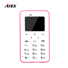 Новинка 2017 года телефона карточки AIEK/aeku Q2 мини ультра тонкий сотовый телефон карты Bluetooth dialier multi Язык Бесплатная доставка pk AIEK M5 C6 E1