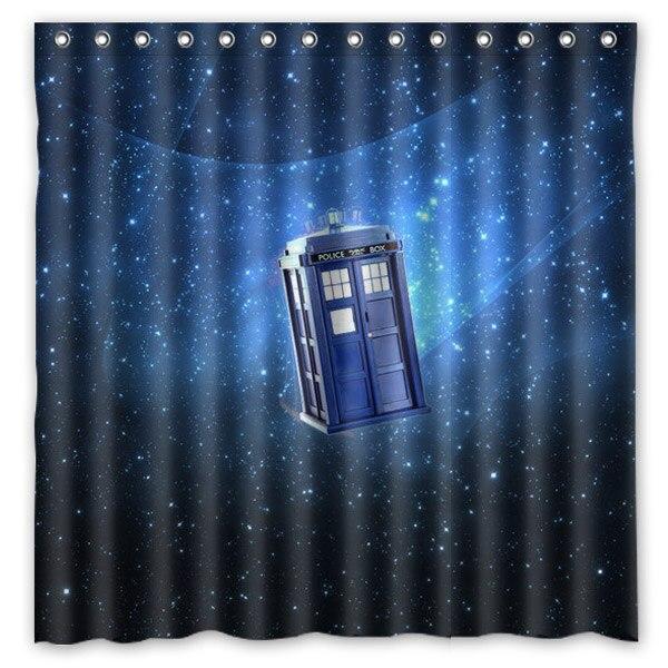 Novedad productos de baño! Doctor Who Tardis en Starry Sky impreso poliéster imp