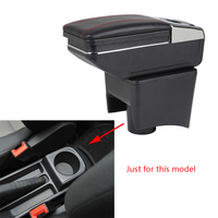 Car Armrest Box For Volkswagen Polo Vento 2010 To 2017 Center Storage Box With Cup Holder Stowing Tidying Arm Rest Rotatable