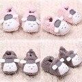 Прекрасный ребенок мальчики-девочки зимние теплые плюшевые тапочки детские мягкие тапочки кроватки обувь 0 - 12 м