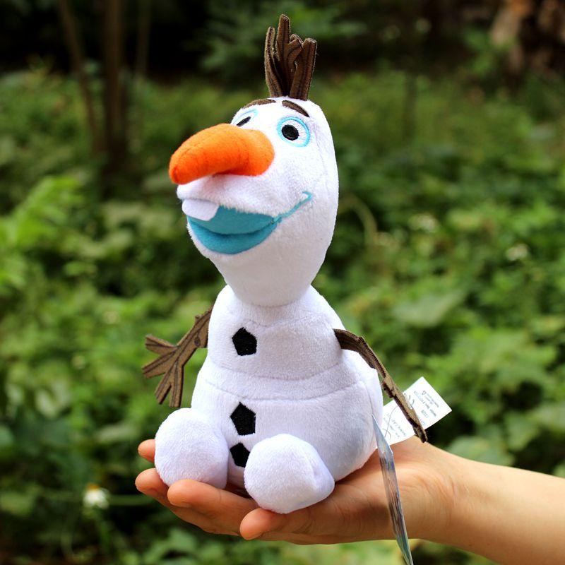 23cm Olaf Cartoon Anime Plush Toys Snowman Olaf Stuffed Soft Plush Doll Children Gift
