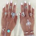8 turco pçs/set boêmio midi conjunto anel steampunk do vintage elefante anel knuckle anéis para as mulheres anel jóias boho