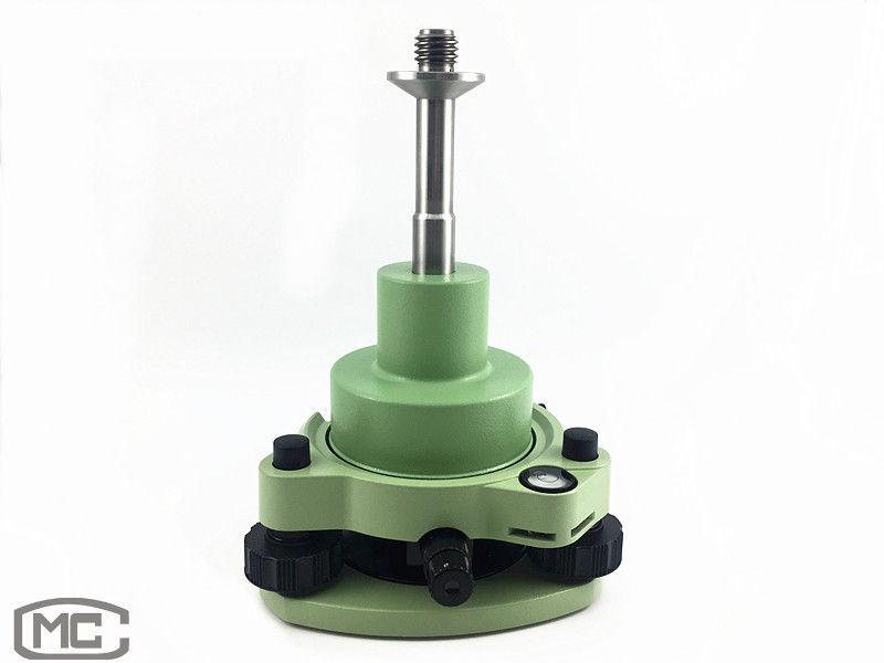 Green Three-Jaw Tribrach With Optical Plummet & 5/8 Thread Adapter