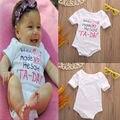 Varejo 2016 Baby Girl Bodysuits Corpo Bebes Recém-nascidos Roupas Bodysuit Do Bebê Do Algodão Do Bebê Próximo Bebê Conjunto de Roupas