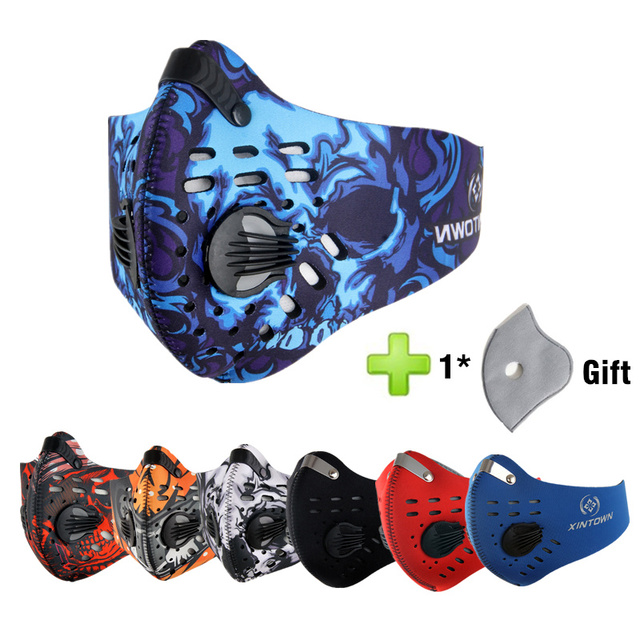 Hot Activated Carbon Dust-proof Cycling Face Mask Anti Flu H3N2 Outdoor Sport Bicycle Filter Mask Dust Smog Protective Half Face