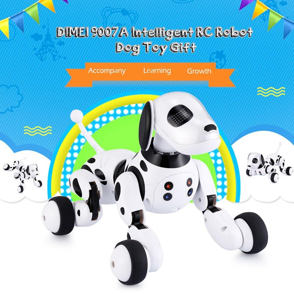 Télécommande sans fil Intelligent Robot chien Intelligent 2.4G parlant Robot chien jouet enfants jouet électronique Pet cadeau d'anniversaire DIMEI 9007A