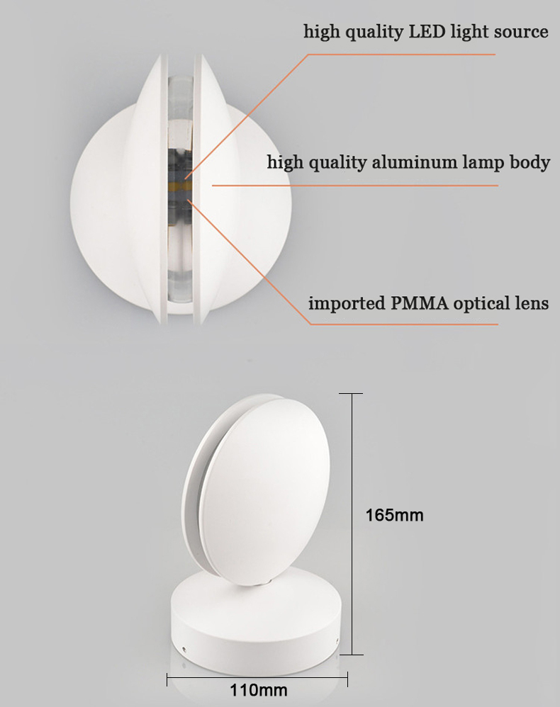 Exterior impermeável 8w conduziu a lâmpada de parede