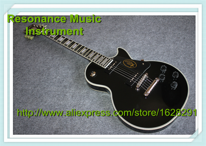 100% Real Pictures Black LP Electric Guitar Custom Model P90 Pickups Chrome Hardware 100% real pictures custom sg electric guitar stain finish chinese guitars
