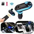 Bluetooth Car Kit MP3 Player LCD FM Transmitter SD Dual USB Charger Blue