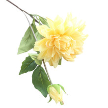 Artificial flower single branch dahlia plant fake wedding supplies home decoration