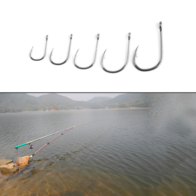 2016 new 100pcs Wholesalers Fishing Bait Barb Fishhook Lure Tackle With Box Size 4/6/8/10/12 free shipping
