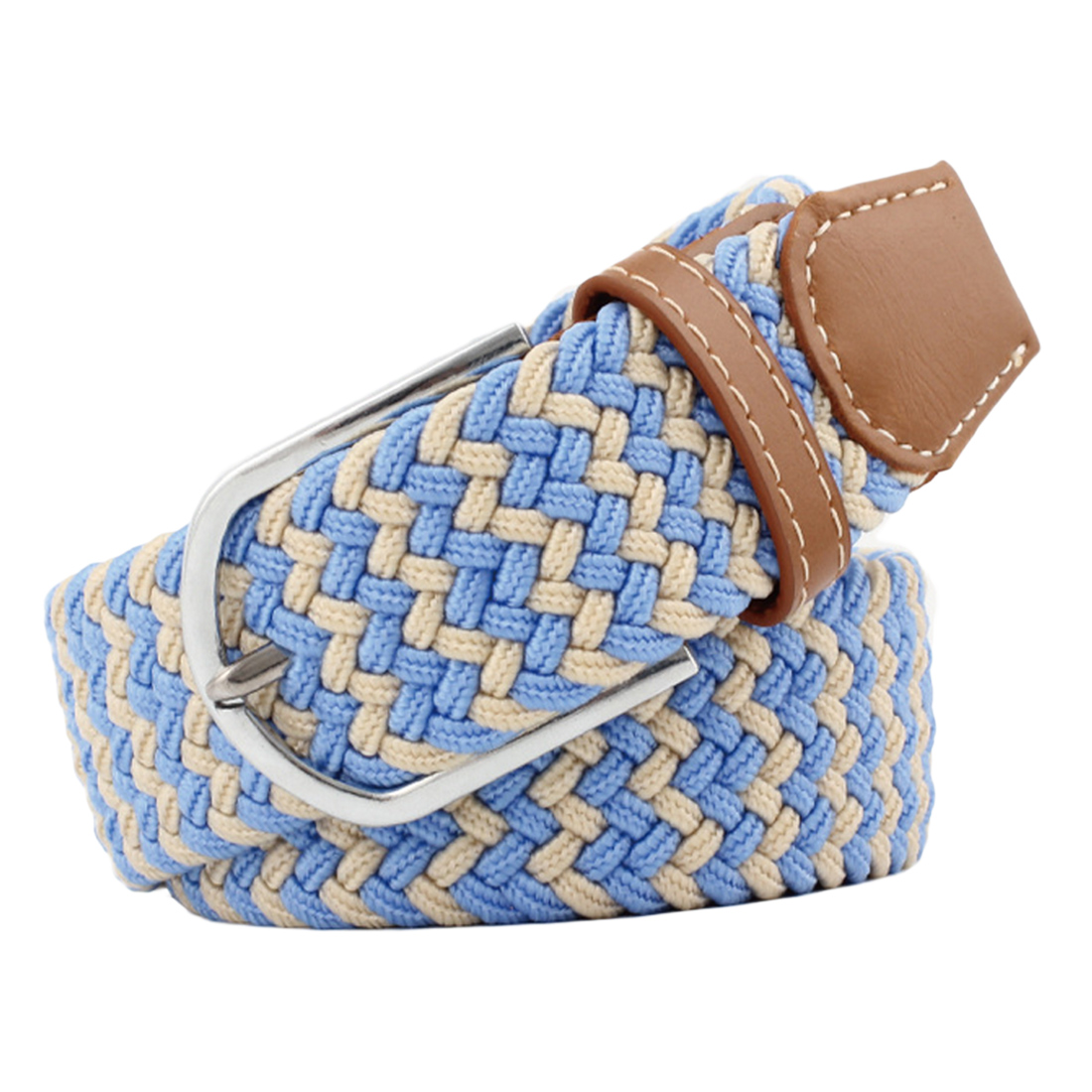 Women Belt Elastic Fabric Braided Belts for Male & Female Candy Colors New Style Belt Accessories Waist Belts
