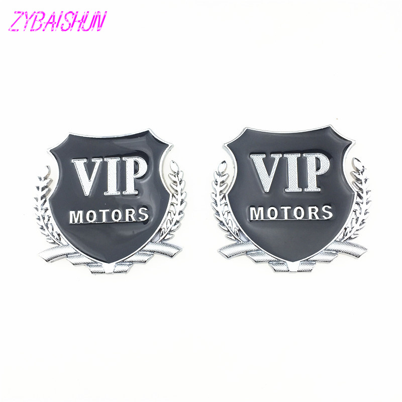 3D металла vip Motors наклейки с эмблемами Авто 2 шт для Volkswagen Polo Tiguan Golf Passat CC R20 R36 EOS Scirocco Bora