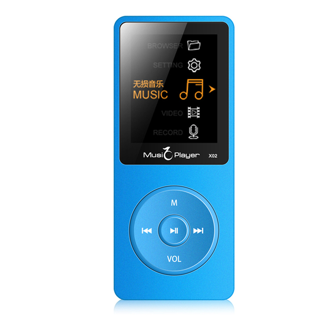 Hot sale! 2016 New Arrive Ultrathin 8gb MP3 Player 1.8 Inch Screen Can Play 40 hours,Original IQQ X02 With FM,E-Book,Clock,Data(