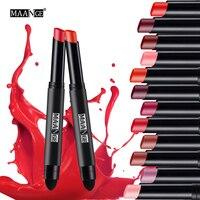 MAANGE 12 Colors Lipstick Moisturizer Waterproof Long Lasting Matte Lip Sticker lipstick pen Lip Golss Tint Sexy Makeup maquiage