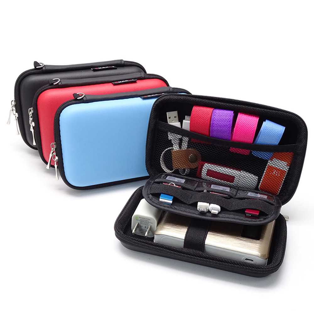 Digital Storage Bag Mobile Phone Data Cable Charger Fingertips Package Zipper Bag Portable Zip Lock Organizer Case For IPhone