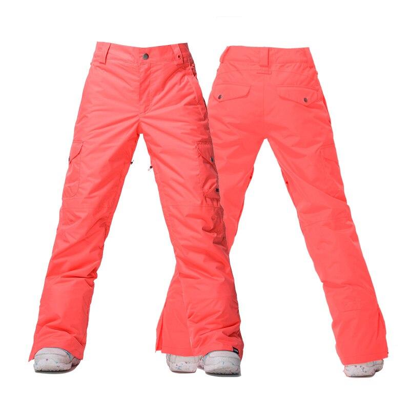 GSOU SNOW Brand femmes pantalon de Ski imperméable coupe-vent pantalon de Ski hiver extérieur respirant chaud femme Snowboard Sport pantalon - 3