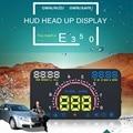E350 5.8 Pulgadas Pantalla HUD Head Up Display Car Advertencia de Exceso De Velocidad Velocímetro Parabrisas Sistema de Proyector para Vehículos con OBDII