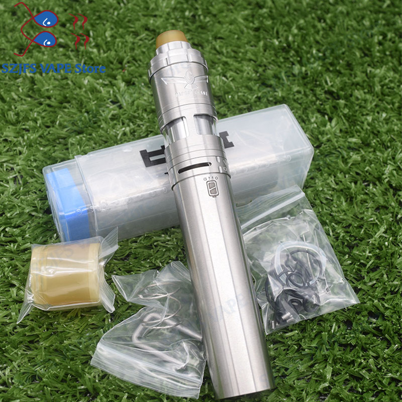 SXK Atto Mech Mod 316ss Styled 18350/18650 Battery Vape Vapor Giant V6S 23mm RTA 316ss Adjustable 6ML Capacity Atomizer Vs Ijust
