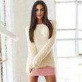 8 Цветов Женщины С Длинным Рукавом Пуловер Свитер Рубашка Дамы Свободные Перемычка Топы Зима