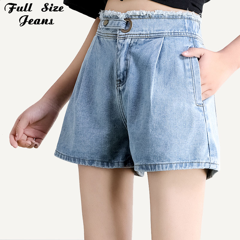 Plus Size Wide Leg White Blue Denim   Shorts   3XL 7XL Summer Donna Bottoms Feminino Jeans   Short   Going Out Loose Baggys Hot Bermuda