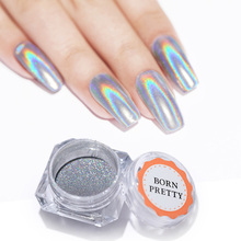 0.5G/Box Holographic Laser Rainbow Powder Chrome Pigment Manicure Nail Art Glitter Accessories