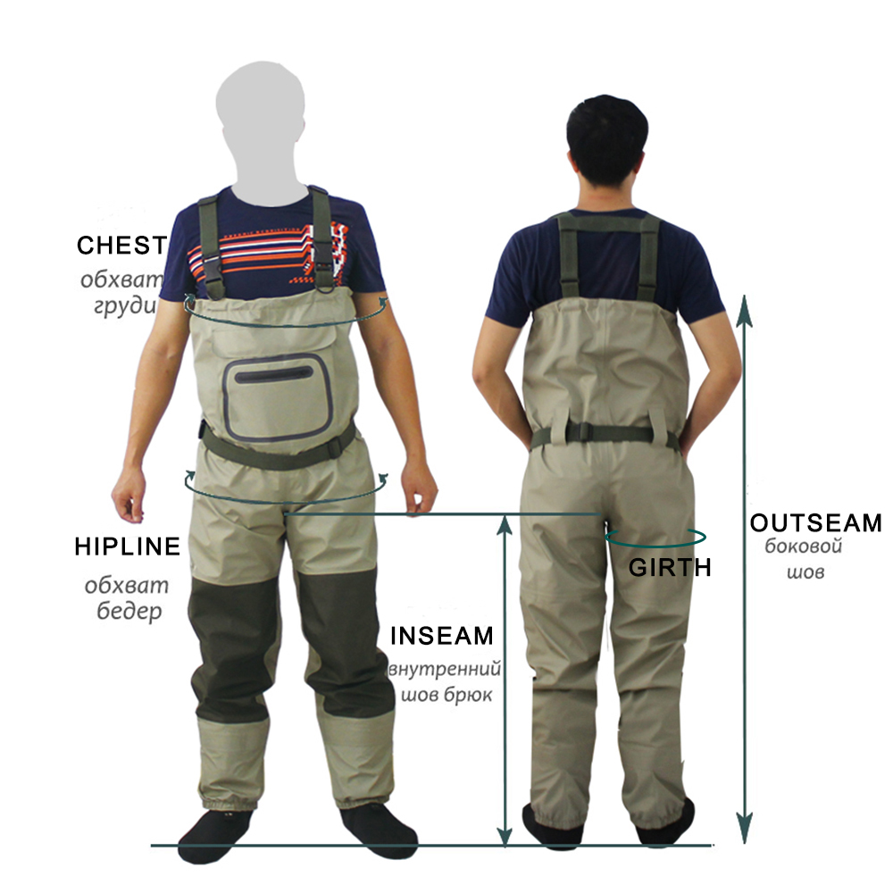 New Fly Fishing Stocking Foot Chest Waders Affordable Rafting wear Breathable Waterproof Chest Wader Overalls