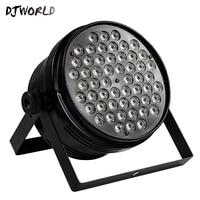 2PCS Aluminum Alloy Black LED Par 54x4W Cool And Warm Power Con Plug DMX512 Stage Effect Lighting Good For Disco DJ Party