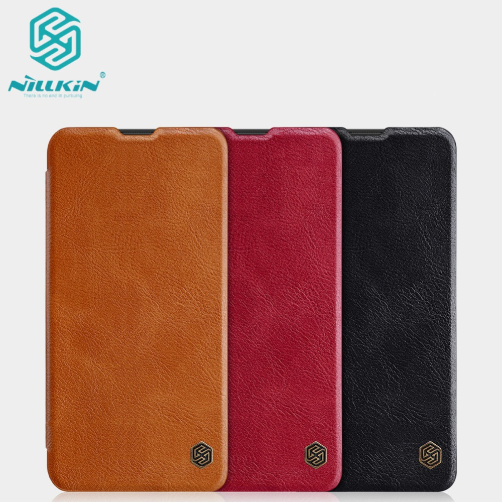 10pcs lot Wholesale NILLKIN Qin Series Wallet Flip Leather Case For Samsung Galaxy M10 Genuine Flip
