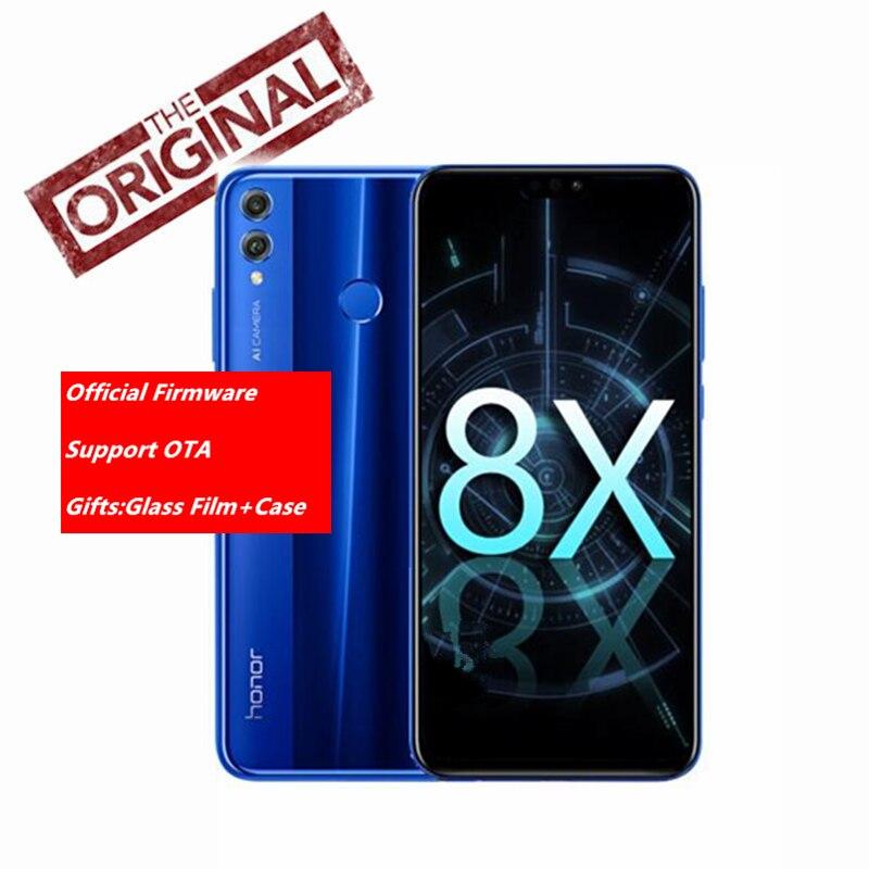 Новый huawei Honor 8X мобильный телефон 6,5 дюймов Экран 3750 мАч Батарея Android 8,1 Octa Core 1,5 GHz смартфон двойной черный 20,0 + 2,0 Мп