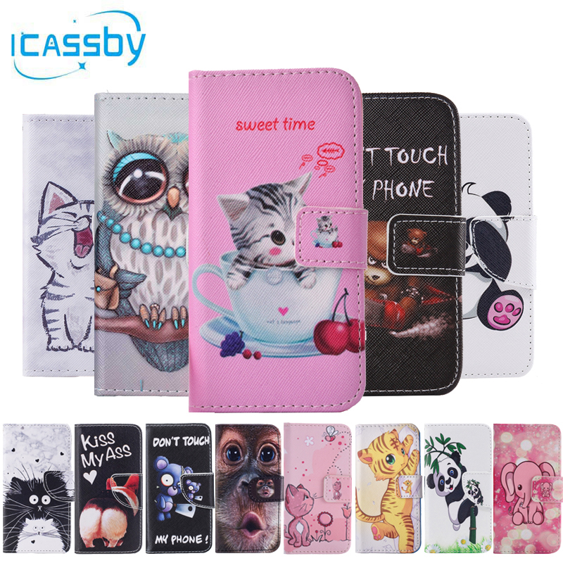 Galleria fotografica sFor Coque Samsung Galaxy S7 Case Cute Panda Cat Leather Flip Wallet Phone Cases For Samsung S7 G930 G930f Cover Etui Capinha