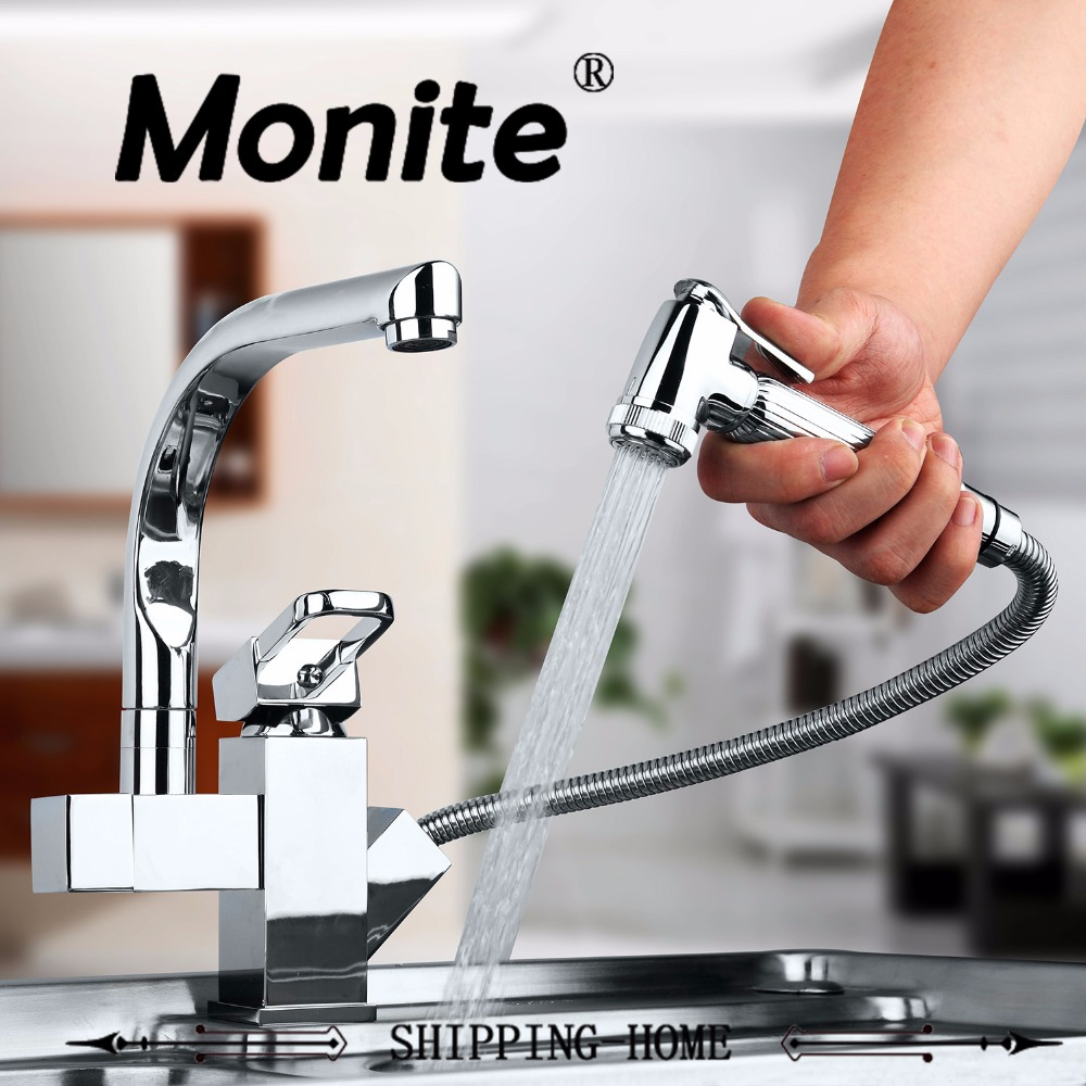 Solid Brass Kitchen Mixer taps Hot and Cold Kitchen Faucet Tap Single Hole Water Tap Kitchen Faucet torneira cozinha chrome