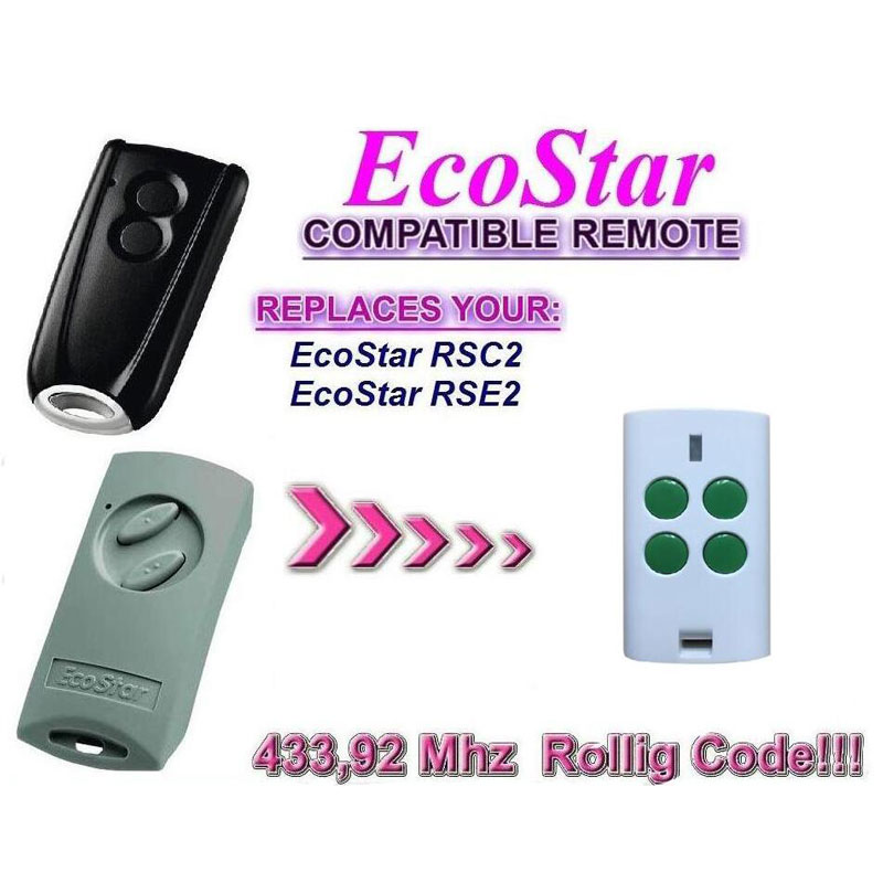 Hormann ecostar rse2 rsc2 compatible garage door Remote control high quality economic and elegance waffle maker machine baker doulbe head electric churros with bar shaped and popsicle