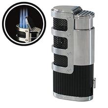 3 Flame Jet Torch Portable Igniter Blue FLAME Refillable Adjustable Cigar