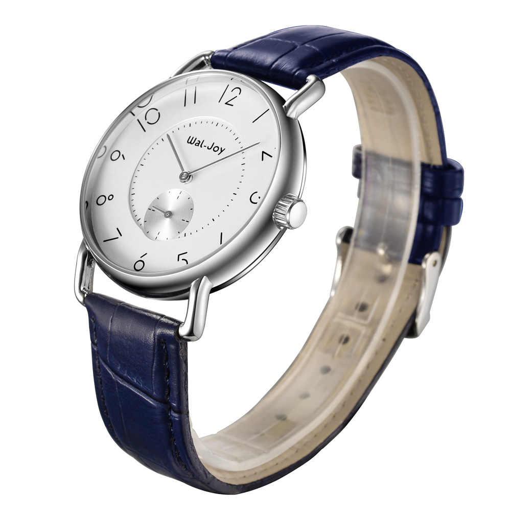 Wal-joy Marka Erkekler İzle Deri Kayış dijital saat Casual Kuvars İzle Erkek Su Geçirmez Spor Saati Minimalist Izle (8005)